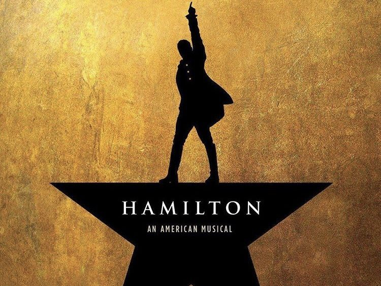 The Hamilton official wallpaper for their upcoming musical performances.